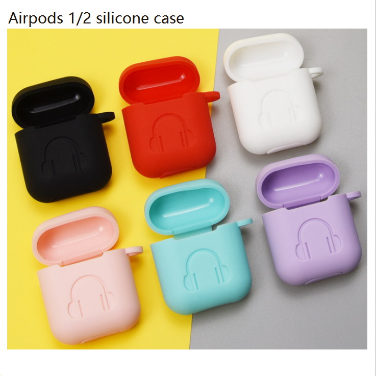 Airpods 1/2 Silicone Case Cover Protective Apple Headsets